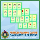 French Days Months Seasons Playing Cards • Card Game • Abs