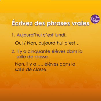 French Days and Months PowerPoint and Activities