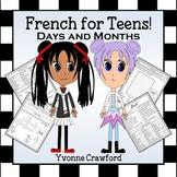 French Days of the Week and Months  -   Les Jours et Les Mois en Français