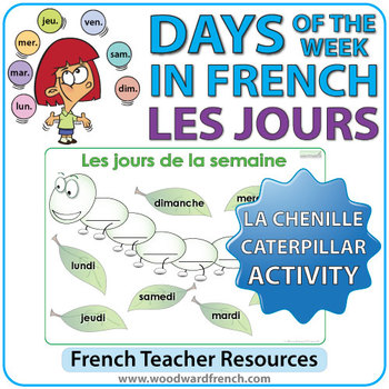 French Days of the Week - Caterpillar Activity - La Chenille