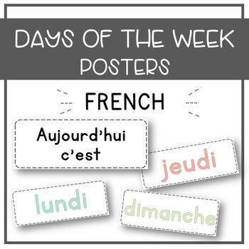 French Days of the Week - Freebie!