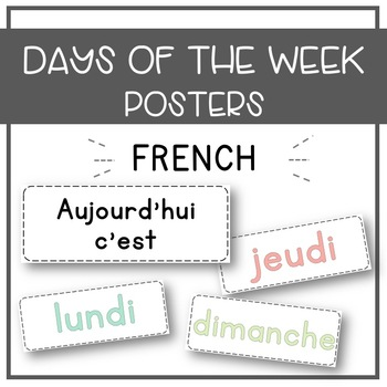 French Days of the Week - Freebie!