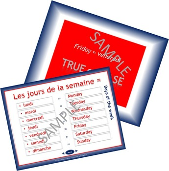 French Days of the Week and Jours de la Semaine made Super Fun with PowerPoint!