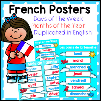 French Days of the Week and Months of the Year Posters