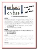 French Days & Months Partner Activities (Speak, Read, Listen, Write)
