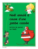 French - December Writing Activity (Christmas Newspaper Article)