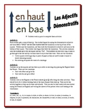 French Demonstrative Adjectives Activities (Speak, Read, Listen, Write)