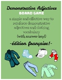 French Demonstrative Adjectives Board Game