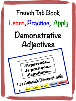 French Demonstrative Adjectives Tab Book