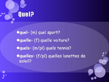 French Demonstrative and Interrogative Adjectives - Ce et quel