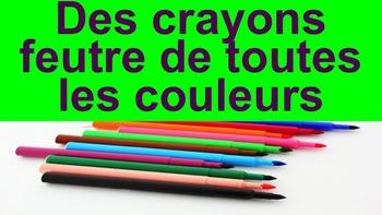 """French: Reading: """"Des crayons feutre de toutes les couleurs"""", lecture, PRIMARY"""