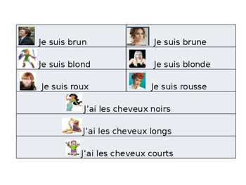 French Describing Myself/Others Guided Notes