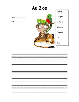 French Descriptive Writing Prompt
