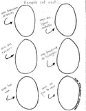 French - Design your own Easter Egg template