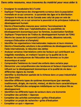 """French: """"Développement et qualité de vie dans le monde"""", Géo, Gr.8, 166 slides"""