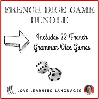 French Grammar Dice Games Bundle - Jeux de Dés