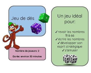 French Dice Game (jeu de dés)