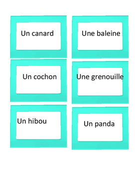 French Pictionary Vocabulary Game