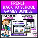 French Digital Back to School Bundle