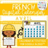 French Digital Calendar - April