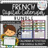 French Digital Calendar BUNDLE