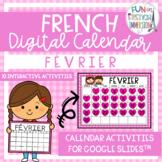 French Digital Calendar - February