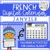 French Digital Calendar - January