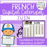 French Digital Calendar - June