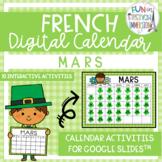 French Digital Calendar - March