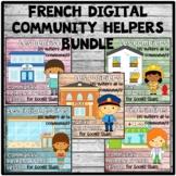 French Digital Community Helpers BUNDLE | Social Studies | Les Métiers