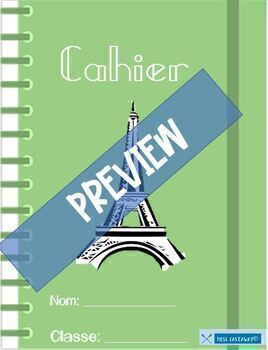 French Digital Notebook Template for Google Classroom