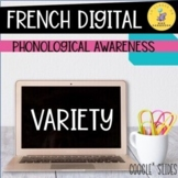 French Digital Phonological Variety Oral Activities I Cons