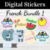 French Digital Sticker Bundle #1 76 Stickers