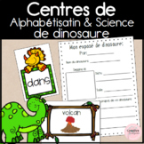 French Dinosaur-Themed Science and Literacy Centers