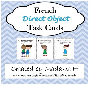 French Direct Object Task Cards