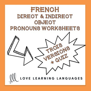 Indirect Object Pronouns Worksheets Teaching Resources Teachers
