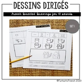 French Directed Drawing 10 blended sounds (les sons composés)