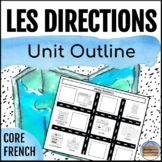 Directions - Core French Unit Outline