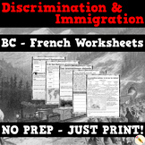 French - Discrimination and Immigration in Canada: BC Social Studies Grade 5