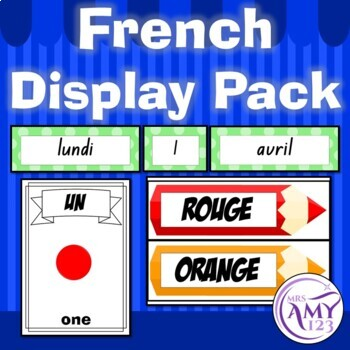 French Display Pack - Numbers, Colours & Calendar