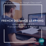 French Distance Learning Digital Culture Lessons Bundle