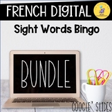 French Digital Sight Words Bingo I Les Mots Fréquents I GO