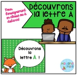 French Distance Learning Letter A / La lettre A (Activités