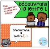 French Distance Learning Letter L/ La lettre L (Activités