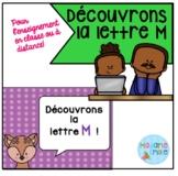 French Distance Learning Letter M/ La lettre M (Activités