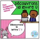 French Distance Learning Letter U / La lettre U (Activités
