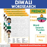 French Diwali- Diwali in French - Fete des lumieres - Word Search