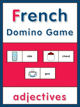 French Domino Game  Adjectives