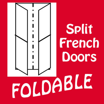 French Door 4 Panel Foldable Graphic Organizer - Vertical Layout