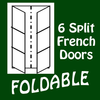 French Door 6 Panel Split Foldable Graphic Organizer - Vertical Layout